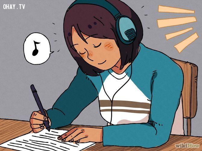 ảnh học bài,phương pháp học,phương pháp để nhớ nhanh,học sinh,sinh viên