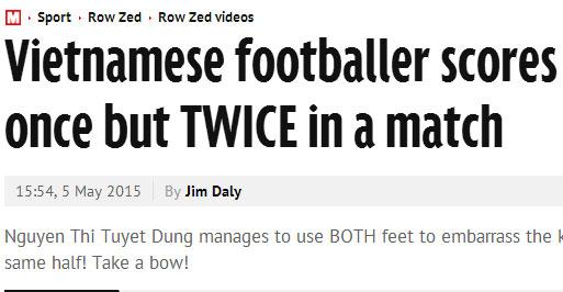 Báo chí châu Âu bái phục hai bàn thắng của nữ cầu thủ Việt Nam