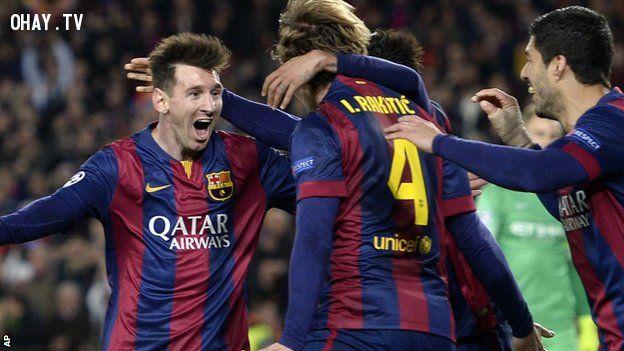 Để sánh ngang với Barcelona, Man City cần một Messi (Ảnh : AP)
