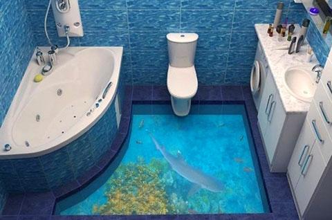 Đã mắt với phòng tắm 3D siêu ảo