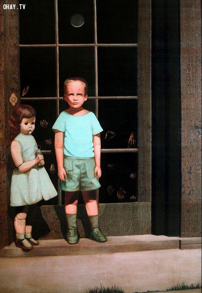 Bức tranh ma quái ám ảnh hàng nghìn người