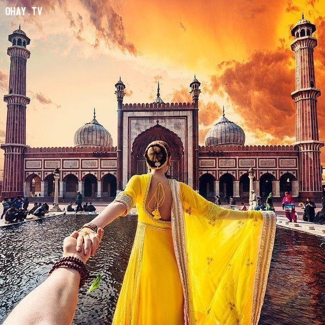 ảnh follow me,chụp ảnh follow me,ấn độ,cảnh đẹp ấn độ,cặp đôi người nga