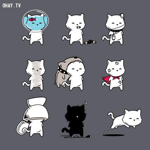 ảnh hài hước,hình ảnh mèo dễ thương,hình vẽ mèo,tranh vẽ về mèo