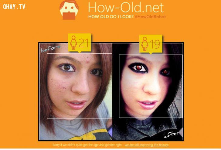 ảnh phần mềm,camera 360,nhận diện khuôn mặt,trò chơi đoán tuổi,microsoft