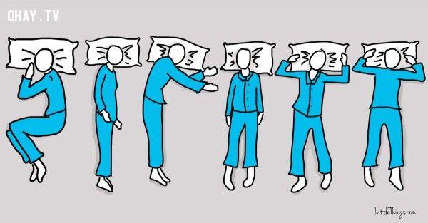 ảnh tư thế ngủ,tính cách,giấc ngủ,trắc nghiệm vui,tư thế ngủ và tính cách