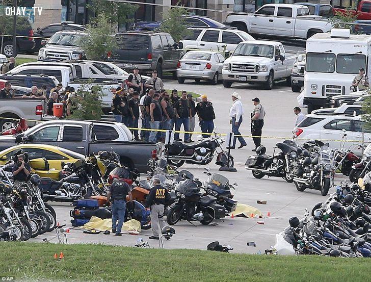 ảnh đấu súng,giang hồ đấu súng,băng nhóm moto mỹ,băng nhóm moto,thời sự mỹ,biker