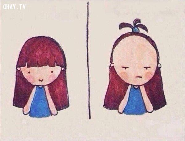 tóc con gái