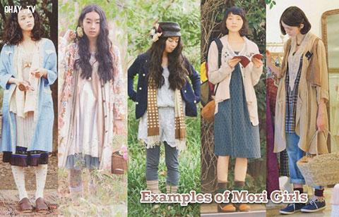 Phong cách thời trang lãng mạn của nàng Mori girl