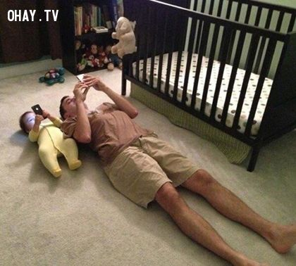 ảnh cha và con,khi mẹ vắng nhà,ảnh hài hước bố con,ảnh hài hước,cha con hài hước