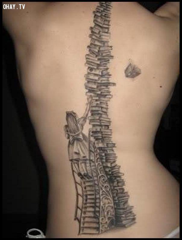 ảnh hình xăm cho nữ,hình xăm ở lưng,hình xăm,hình xăm lưng,mẫu hình xăm lưng