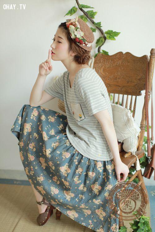 ảnh Mori girl,Mori style,phong cách,thời trang Nhật
