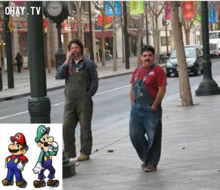 ảnh nhân vật hoạt hình,đời thực,người thật giống hoạt hình