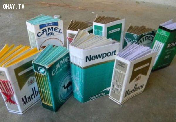 ảnh bao thuốc lá,sáng tạo,sản phẩm làm từ bao thuốc lá