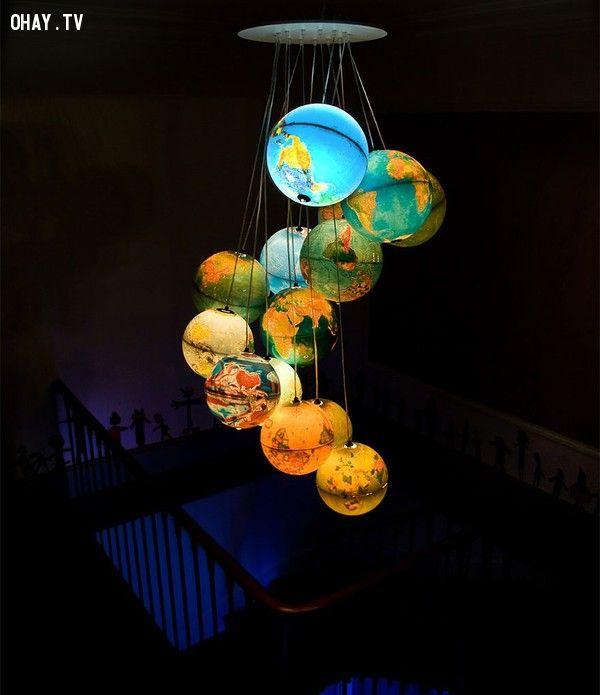 ảnh tự làm đèn trang trí,diy,tự làm đèn ngủ,tự chế đèn