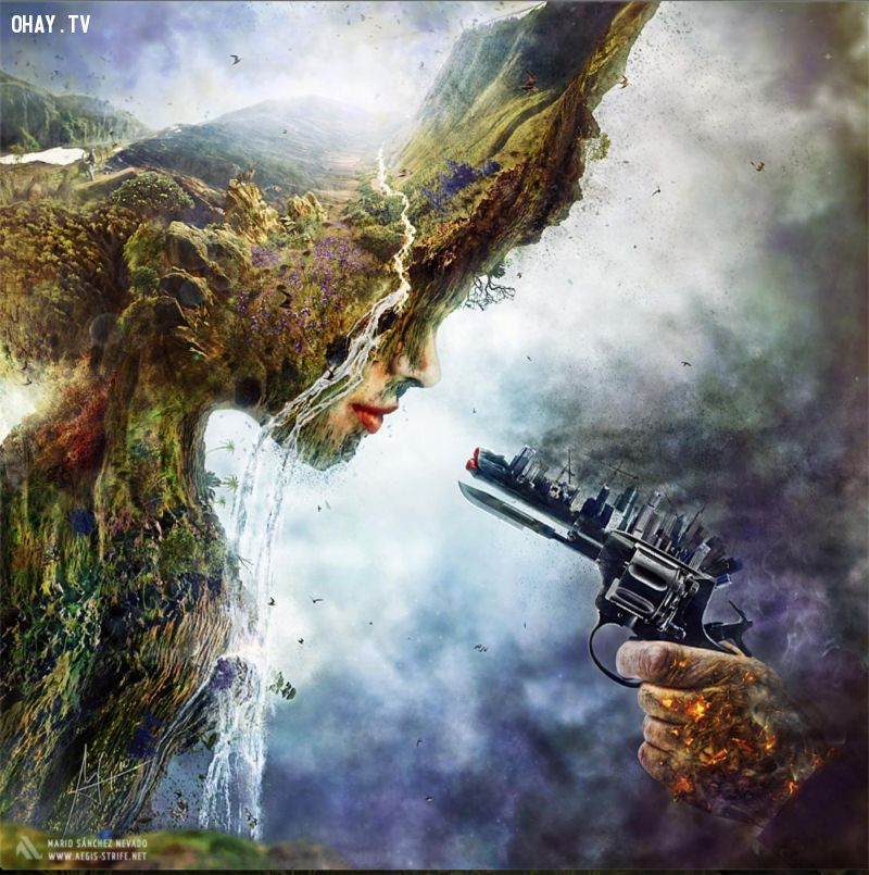 Con người đang sát hại tự nhiên.