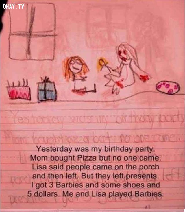 Tranh vẽ của con nít còn đáng sợ hơn cả phim ma