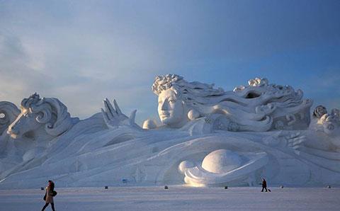 Những công trình điêu khắc trên tuyết vĩ đại nhất