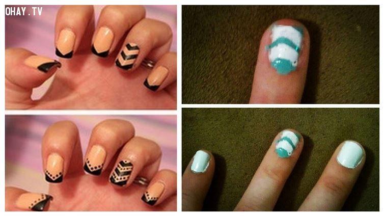 ảnh nail,móng tay,sơn móng tay,khéo tay,bản sao,bản sao thất bại,sự thất bại của làm móng