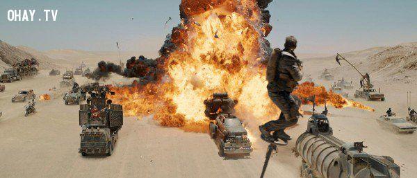 ảnh kỹ xảo phim bom tấn,cảnh quay MAD MAX,kỹ xảo trong phim MAD MAX,xử lý hậu trường,điện ảnh
