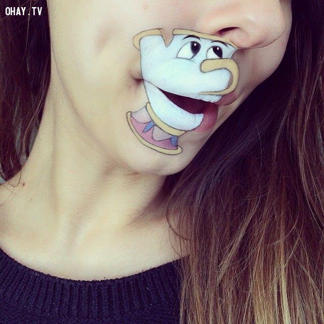 Bộ ảnh độc đáo về sự kết hợp của hội họa và miệng!