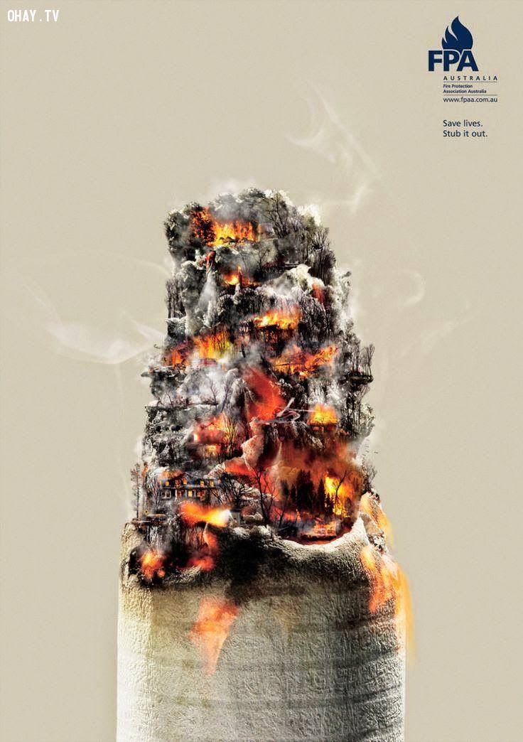 Hãy cứu lấy cuộc sống của những người quanh bạn! Hãy dập tắt thuốc lá!
