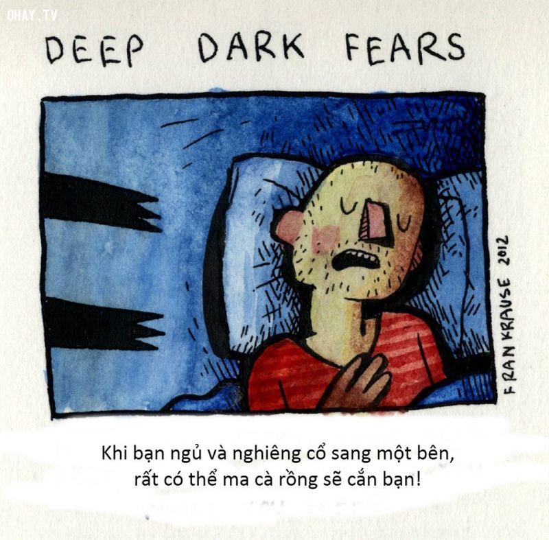 ảnh Deep Dark Fears,Fran Krause,nỗi sợ hãi,phi lý,tăm tối,kinh dị,ma quỷ,truyện kinh dị