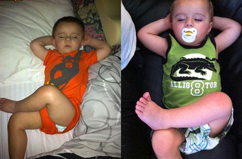 Những dáng ngủ siêu bá đạo của các em bé