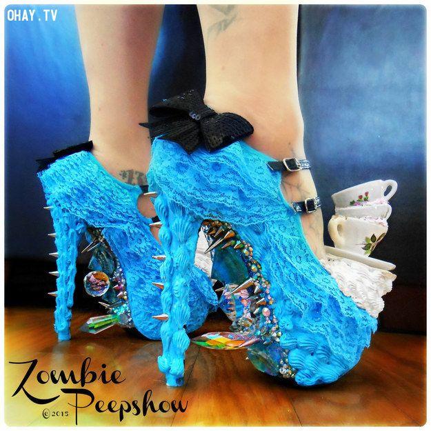 Shoe, giày cao gót, Alice in wonderland
