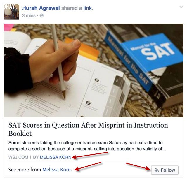 ảnh facebook Authorship,facebook,facebook tác giả
