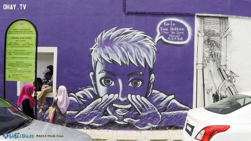 ảnh street art,nghệ thuật đường phố,Malaysia