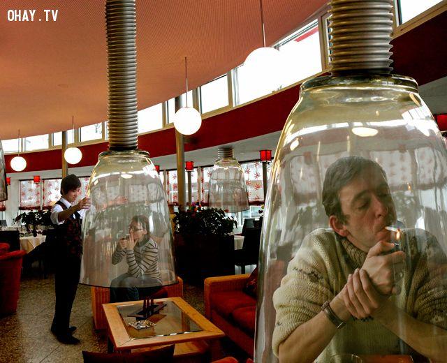 ảnh hút thuốc lá,chuông hút thuốc lá,nhật bản,sáng tạo,sản phẩm hay