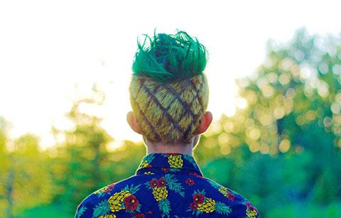 Mái tóc lấy cảm hứng từ quả dứa cực chất