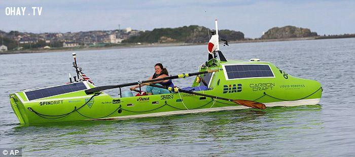 ảnh chèo thuyền,Thái Bình Dương,chèo thuyền vượt thái bình dương,Sonya Baumstein