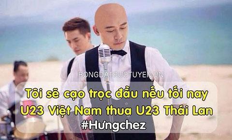 Cư dân mạng chế ảnh, háo hức chờ đợi Tuấn Hưng cạo trọc đầu sau trận thua của U23 Việt Nam
