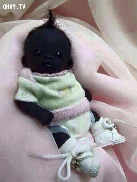 ảnh em bé đen nhất thế giới,da đen,em bé
