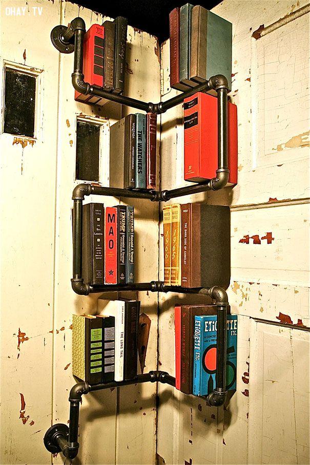 ảnh giá sách thú vị,giá sách đẹp và độc,thiết kế đẹp,thiết kế giá sách,giá sách đẹp