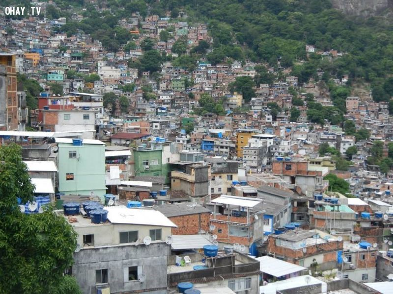 toàn khu Rocinha từ trên cao
