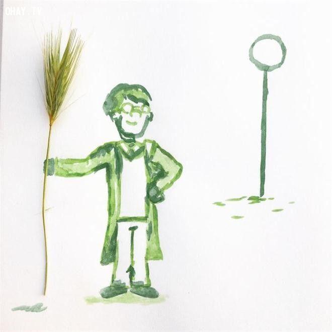 Theo Boredpanda, Kristian Mensa, chàng nghệ sĩ 17 tuổi đến từ Cộng hòa Séc, có khả năng sáng tạo nên những bức tranh hài hước, độc đáo.