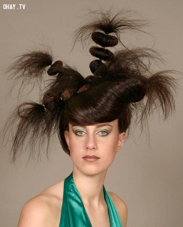 ảnh tóc lạ,kiểu đầu lạ,kiểu tóc,làm tóc