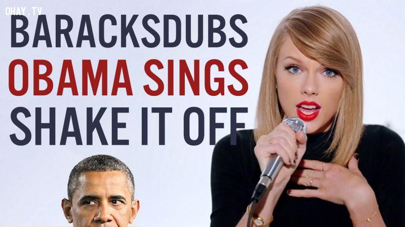 Bản cover Shake it off cực chất của tổng thống Mỹ!