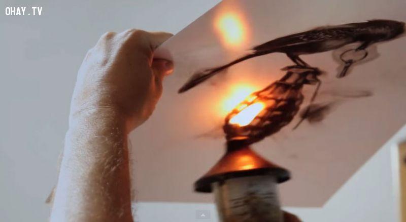 ảnh artist,Spazuk,tranh vẽ,họa sĩ,nghệ thuật,tranh bằng lửa,vẽ tranh bằng lửa