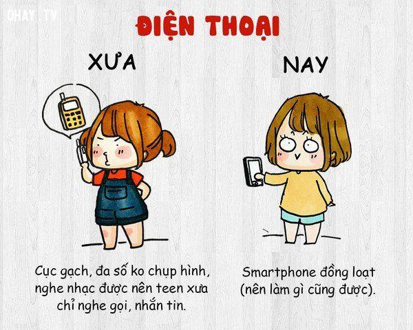 Điện thoại xưa và nay