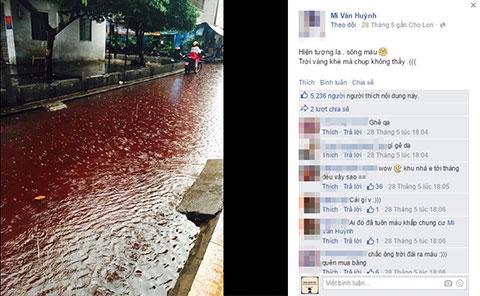 Sự thật về chuyện mưa máu ở Sài Gòn đang gây xôn xao cư dân mạng?