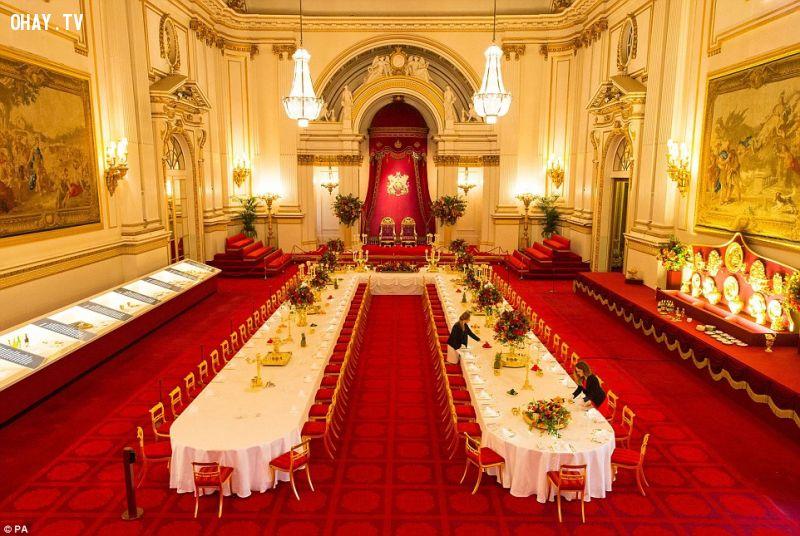 ảnh hoàng gia Anh,nước Anh,hoàng gia,yến tiệc,buckingham,cung điện