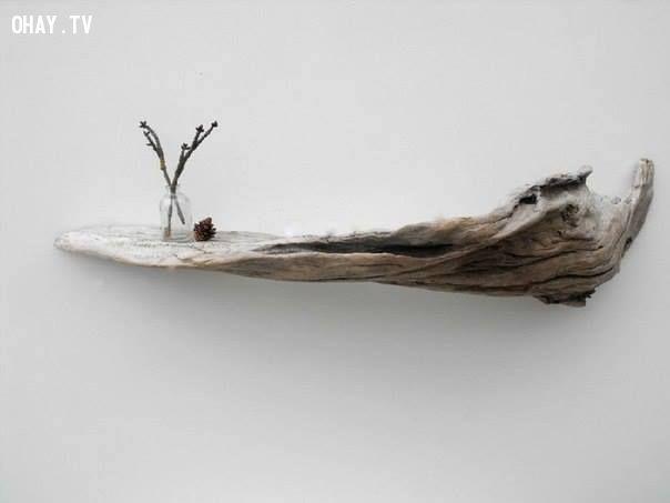 ảnh Mẹo hay,trang trí nội thất,sử dụng thân cây