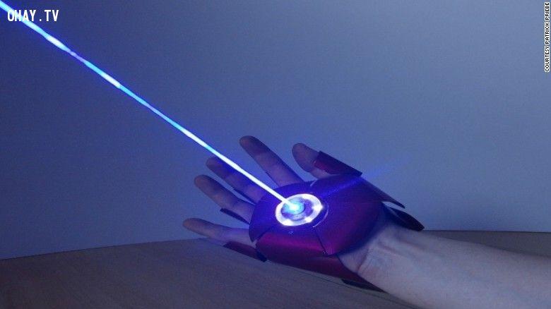 ảnh găng tay,Iron Man,tự chế tạo,găng tay ironman