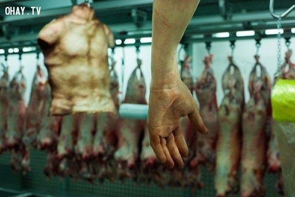 ảnh thịt người,bán thịt người,kinh dị
