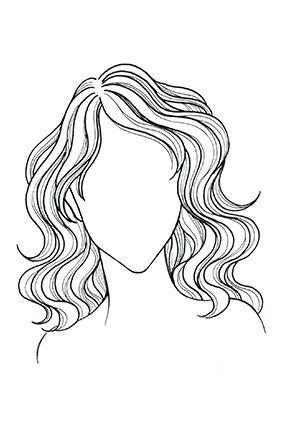 tóc xoăn, gợn sóng cho mặt trái tim