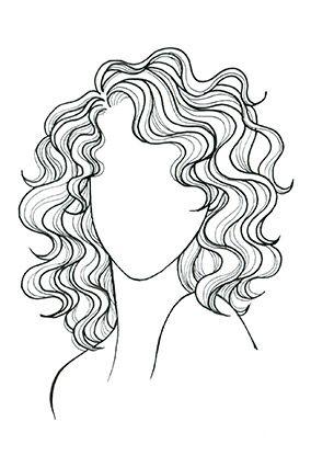 tóc xoăn, gợn sóng cho mặt oval