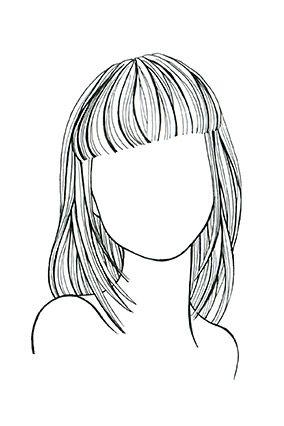 tóc thẳng cho mặt tròn